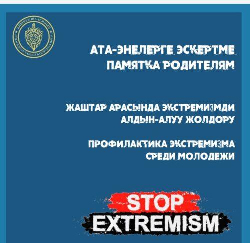 Онлайн-совещание учителей по профилактике экстремизма среди молодежи